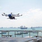 Airbus testa drone de entrega de mercadorias em porto de Cingapura