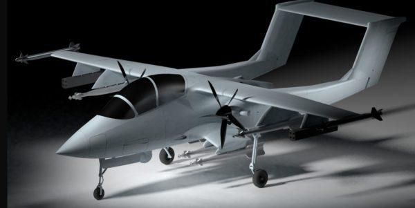 """Akaer Mosquito 2 1024x514 600x301 - LAAD: Akaer apresenta conceito de aeronave de ataque leve """"Mosquito"""""""