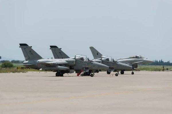 Italy deploys Typhoons Kuwait 600x399 - Força Aérea Italiana substitui seus AMX pelos Eurofighters no Kuwait