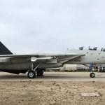 """IMAGENS: Caça F-14 Tomcat do filme """"Top Gun: Maverick"""" volta para seu local de descanso"""