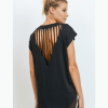 Webbed Cut-Out Back Athleisure Top - Cover
