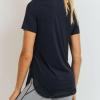 No-Sew Cool-Touch Mesh Panel Athleisure Shirt - Black Closeup
