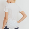 No-Sew Cool-Touch Mesh Panel Athleisure Shirt - White Back