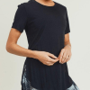 Short-Sleeve Tulip Athleisure Longline Shirt - Cover