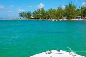rum point grand cayman from the water