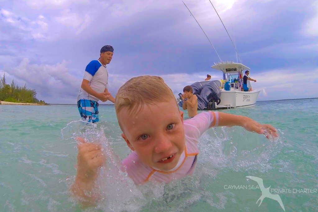 kids playing at starfish point grand cayman