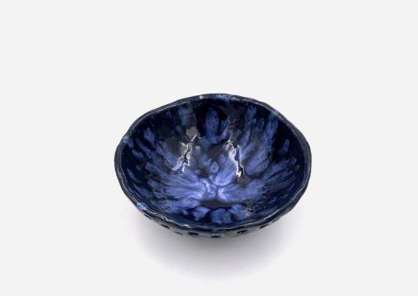 Bowl a Mano Encaje. Azul Oscuro. (M)