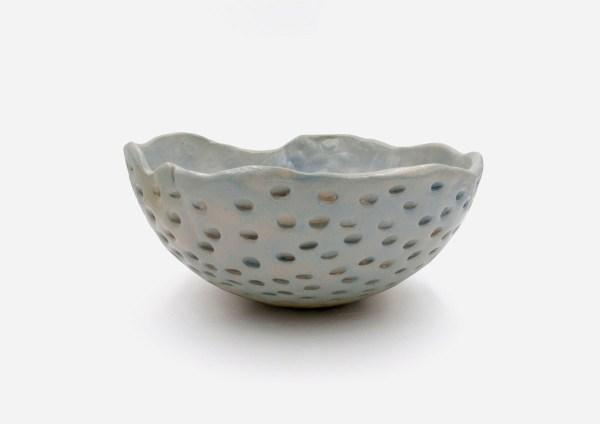 Bowl a Mano Lunas. Azul Gris. (L)