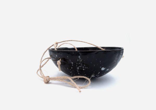 Matera Sin Planta Colgante. Negro Dalmata Blanco. (M)