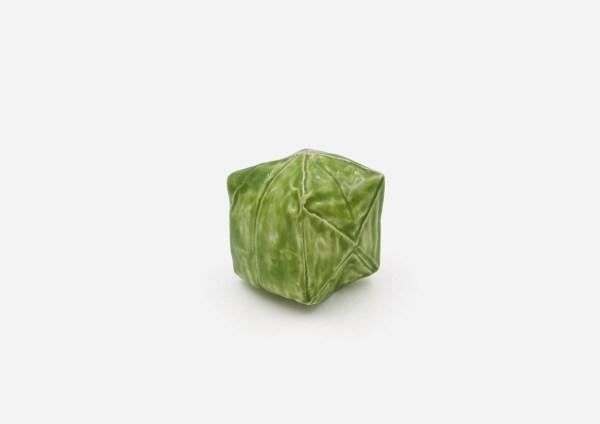 Salero Cubo. Verde Loro. (S)