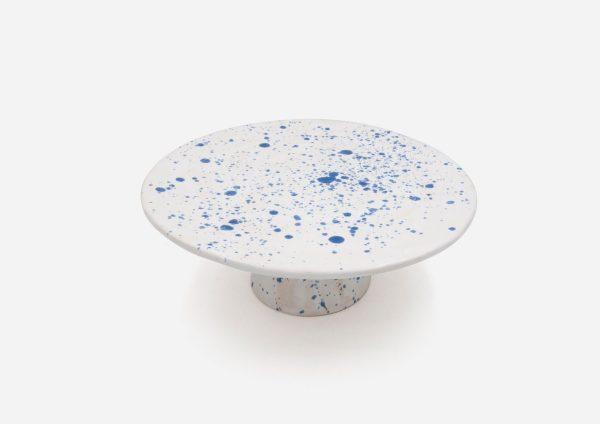 Torteras Baja. Blanco Dalmata Azul. (Mediana)