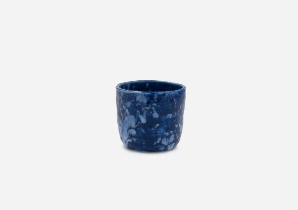 Vasito. Azul Cobalto Dalamata Blanco. (Xs)