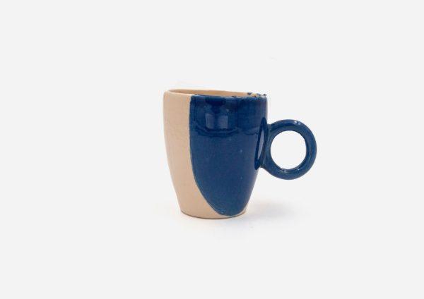 Taza Oh. Mancha Azul Cobalto. (S)