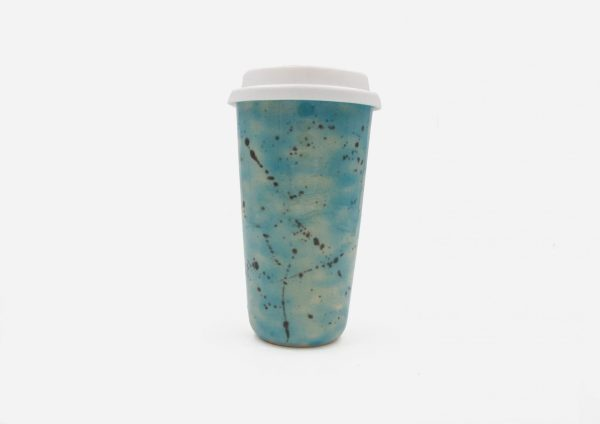 Keep Cup. Azul Celeste Dalmata Negro. (L)