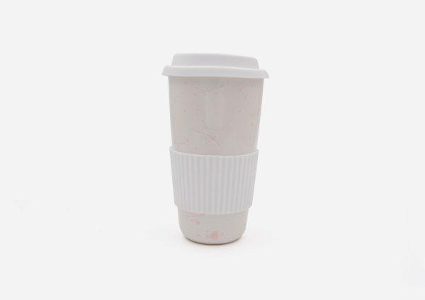 Keep Cup. Blanco Dalmata Rojo. (L)