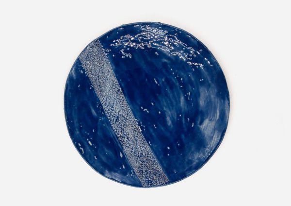 Plato Vajilla Astato. Azul Cobalto. (L)
