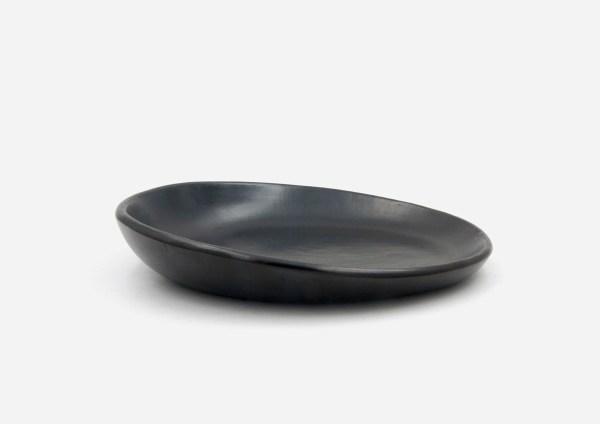 Plato Vajilla Carbono. Negro. (M)
