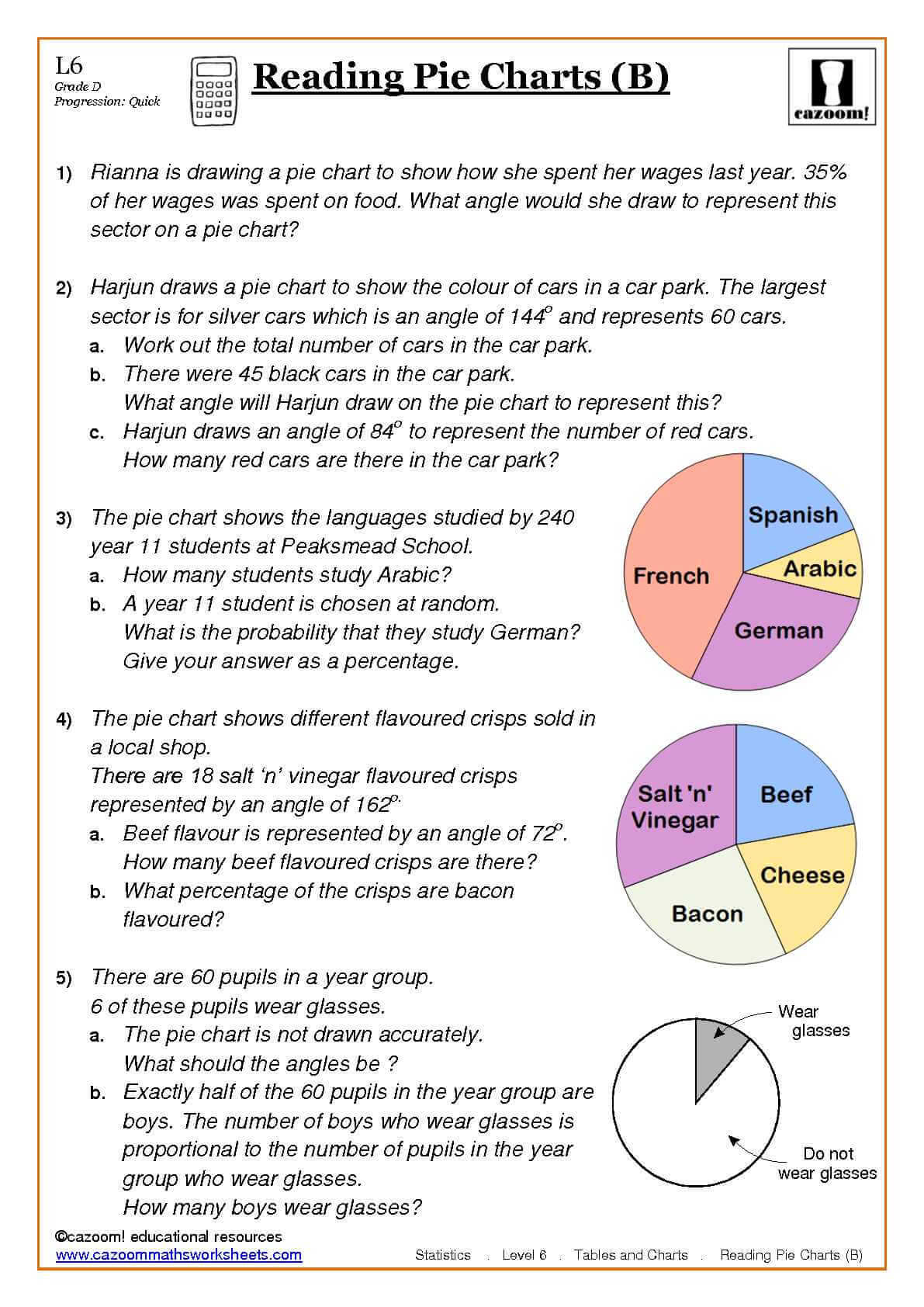 Statistics Maths Worksheets Ks3