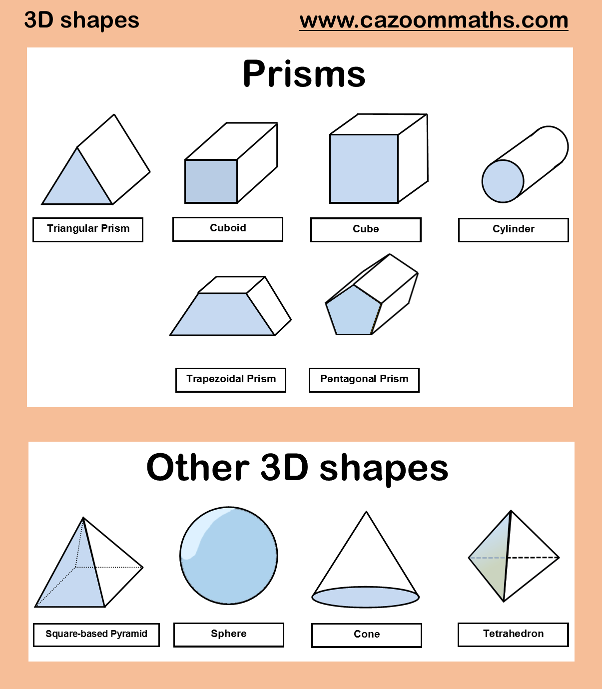64 Shapes Revision Worksheet