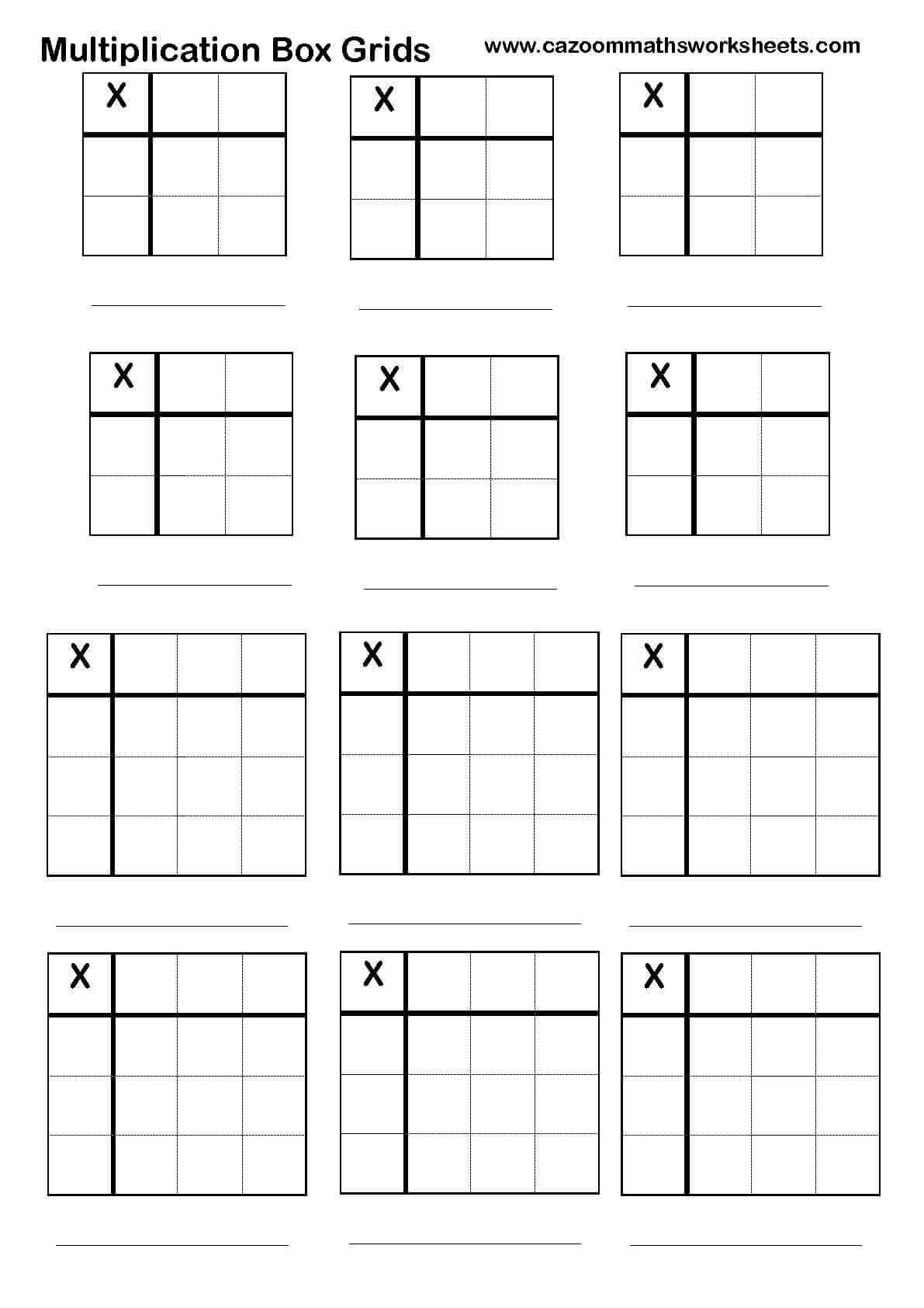Multiplication Worksheet X4