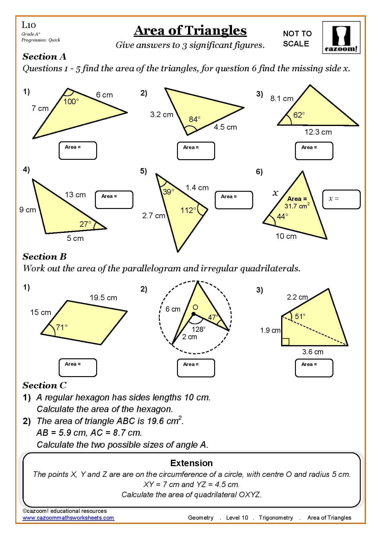Area Worksheet Year 5 And 6