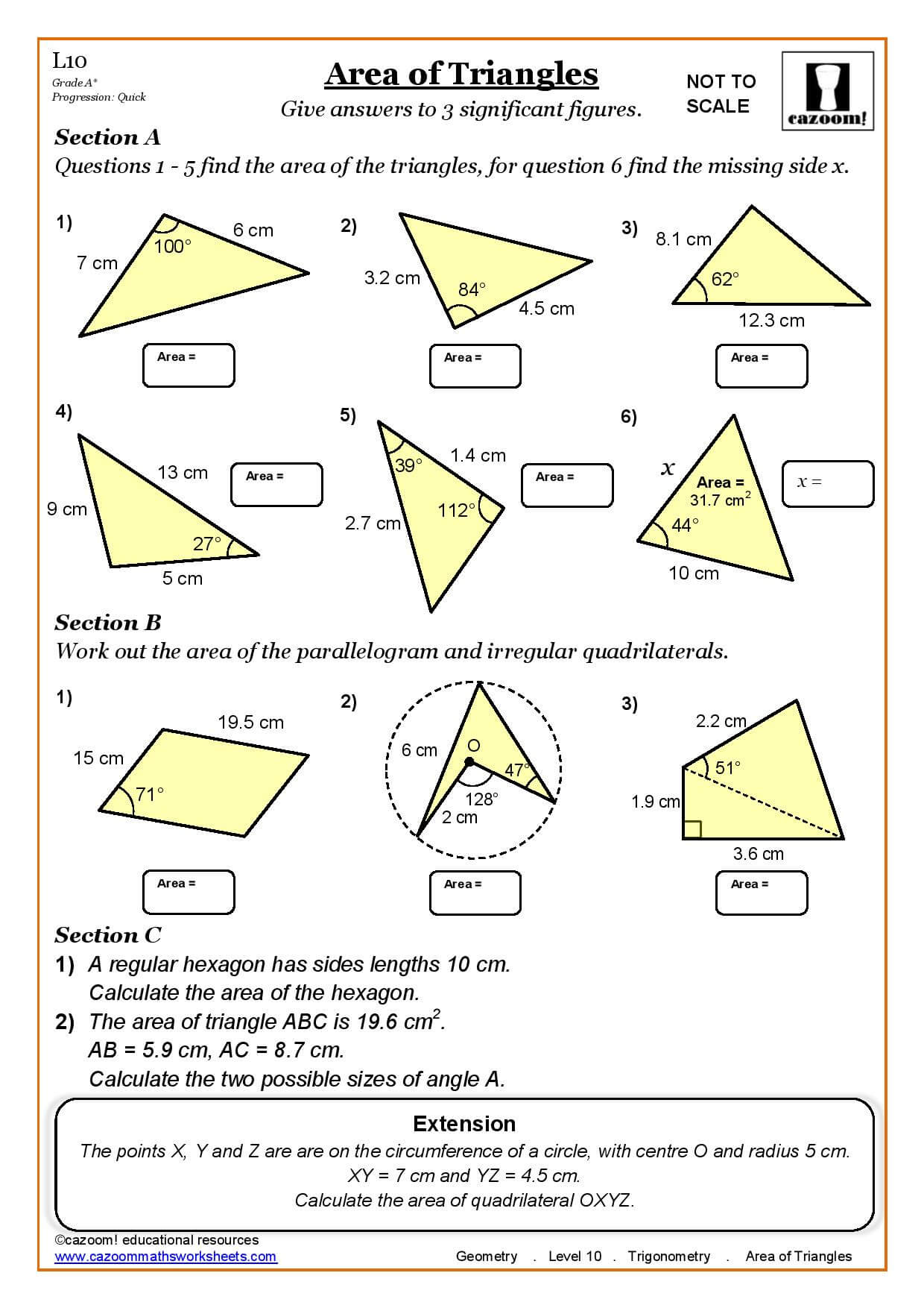 Quadrilateral Worksheet Primary