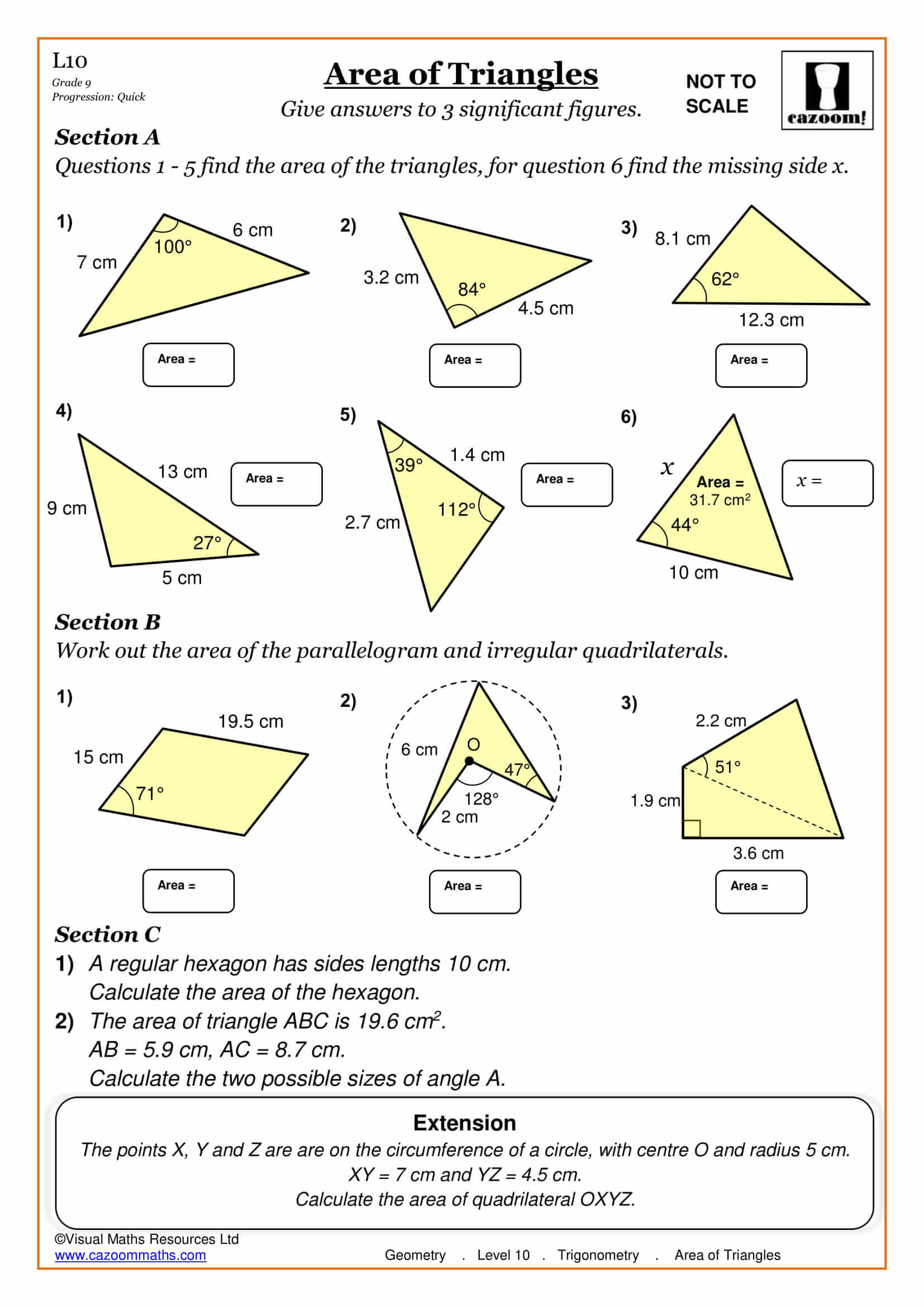 Angles Revision Worksheet