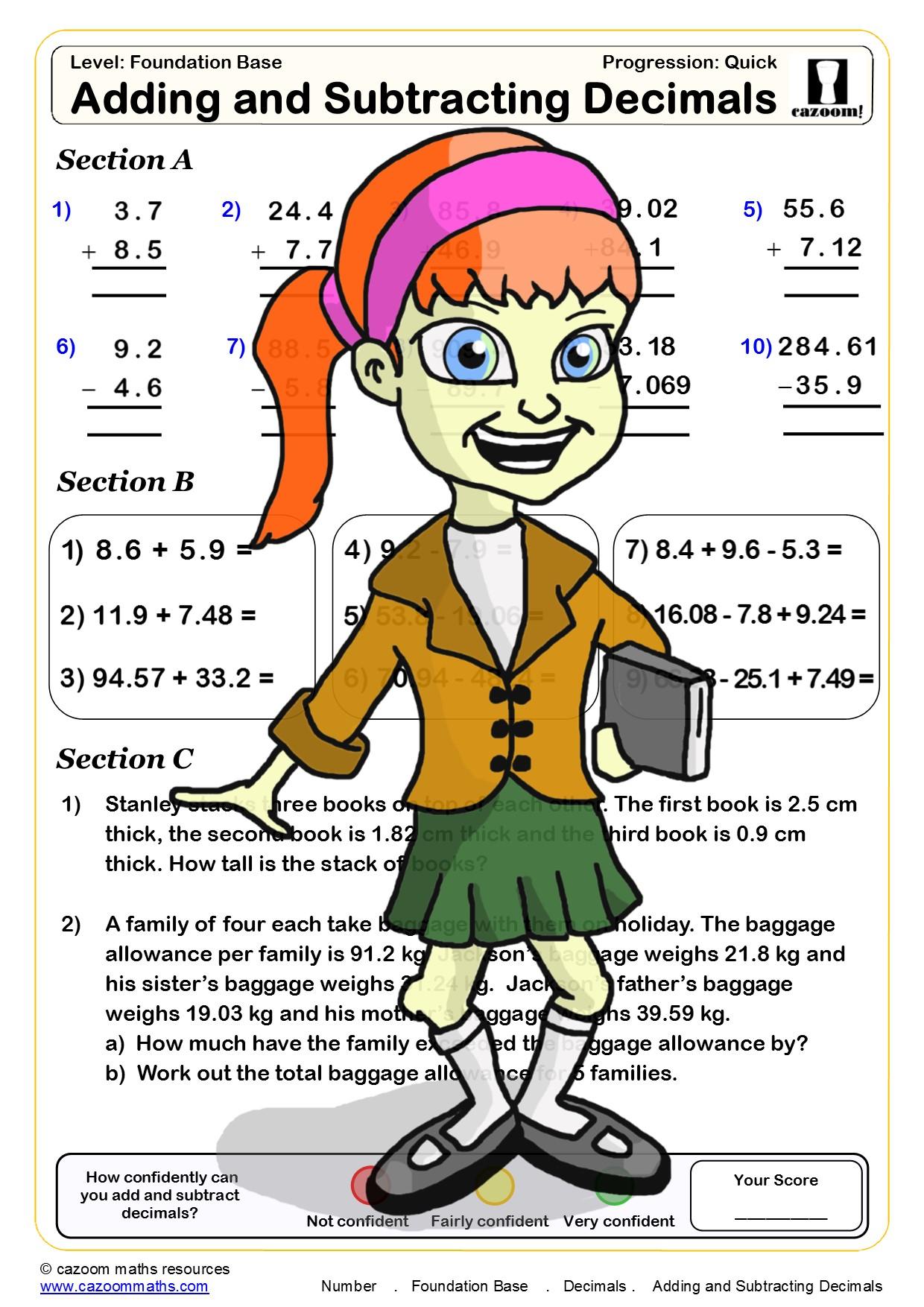 30 Free Maths Worksheets