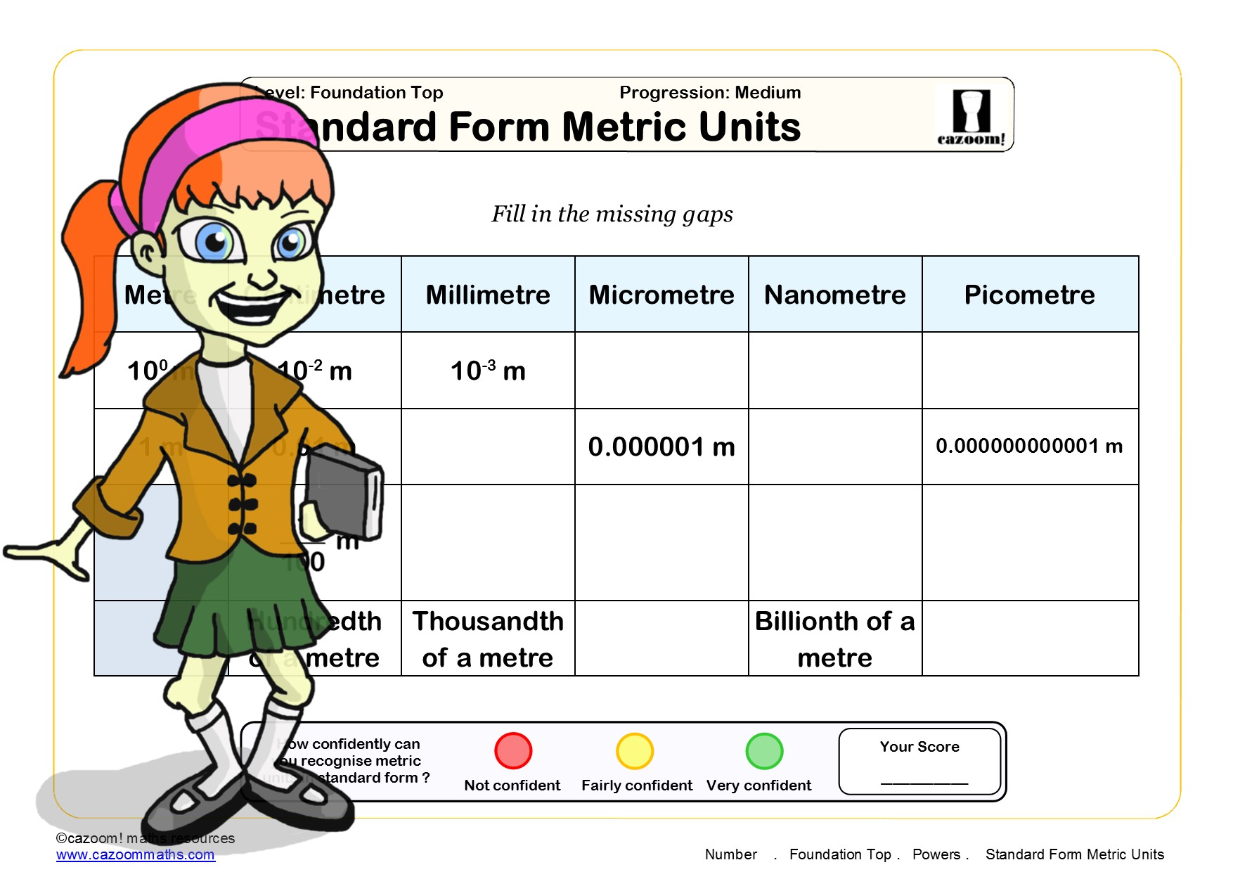 Powers Worksheet Ks3