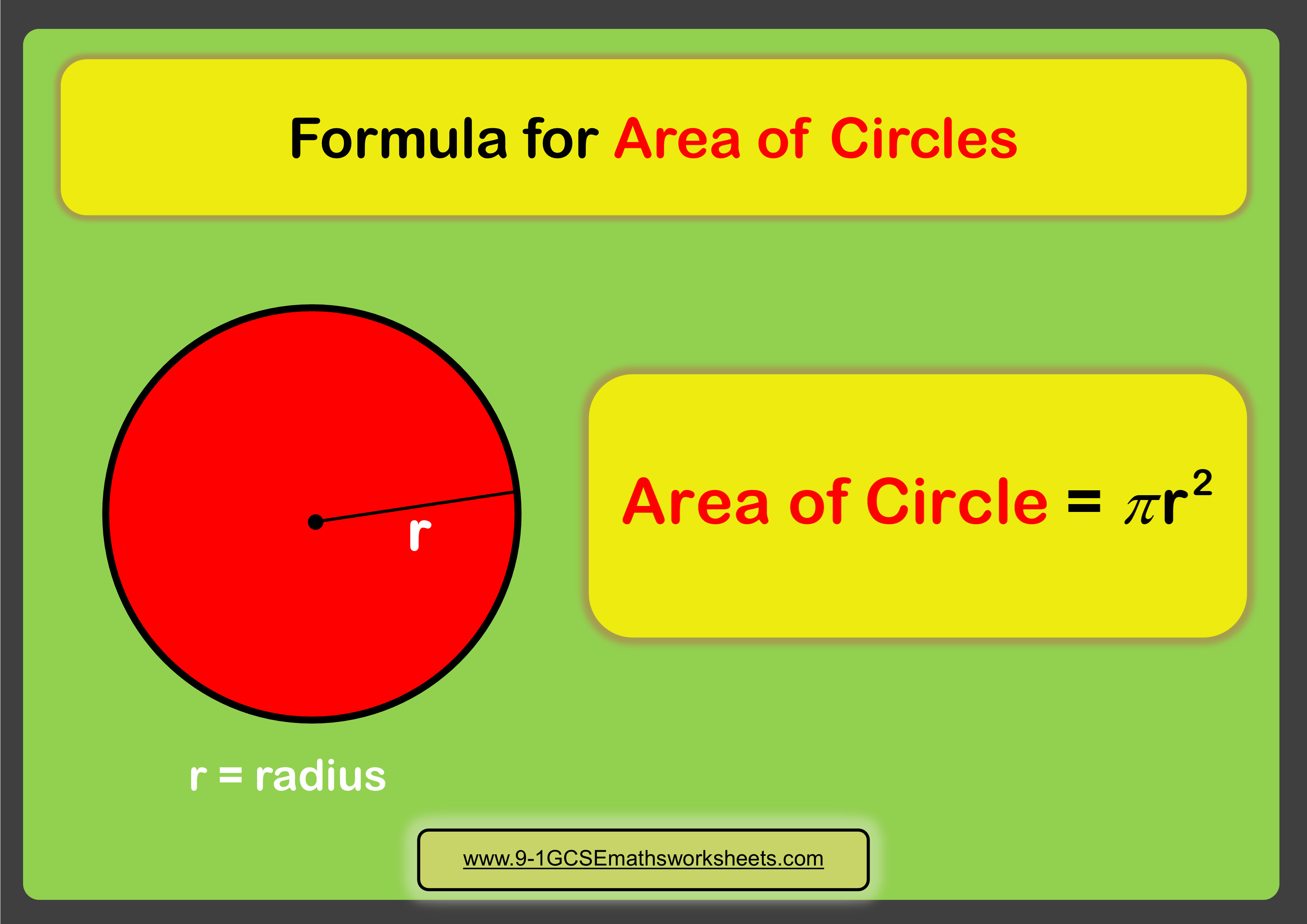 Area Of Circles Worksheets