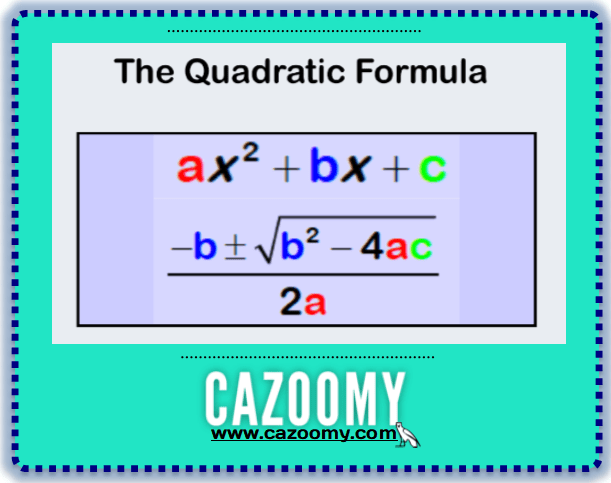 Quadratic Equations Worksheets Cazoomy