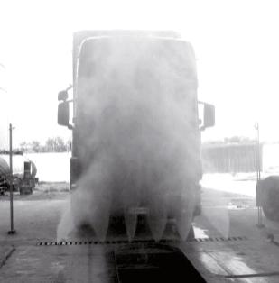 Impianto di lavaggio per veicoli industriali