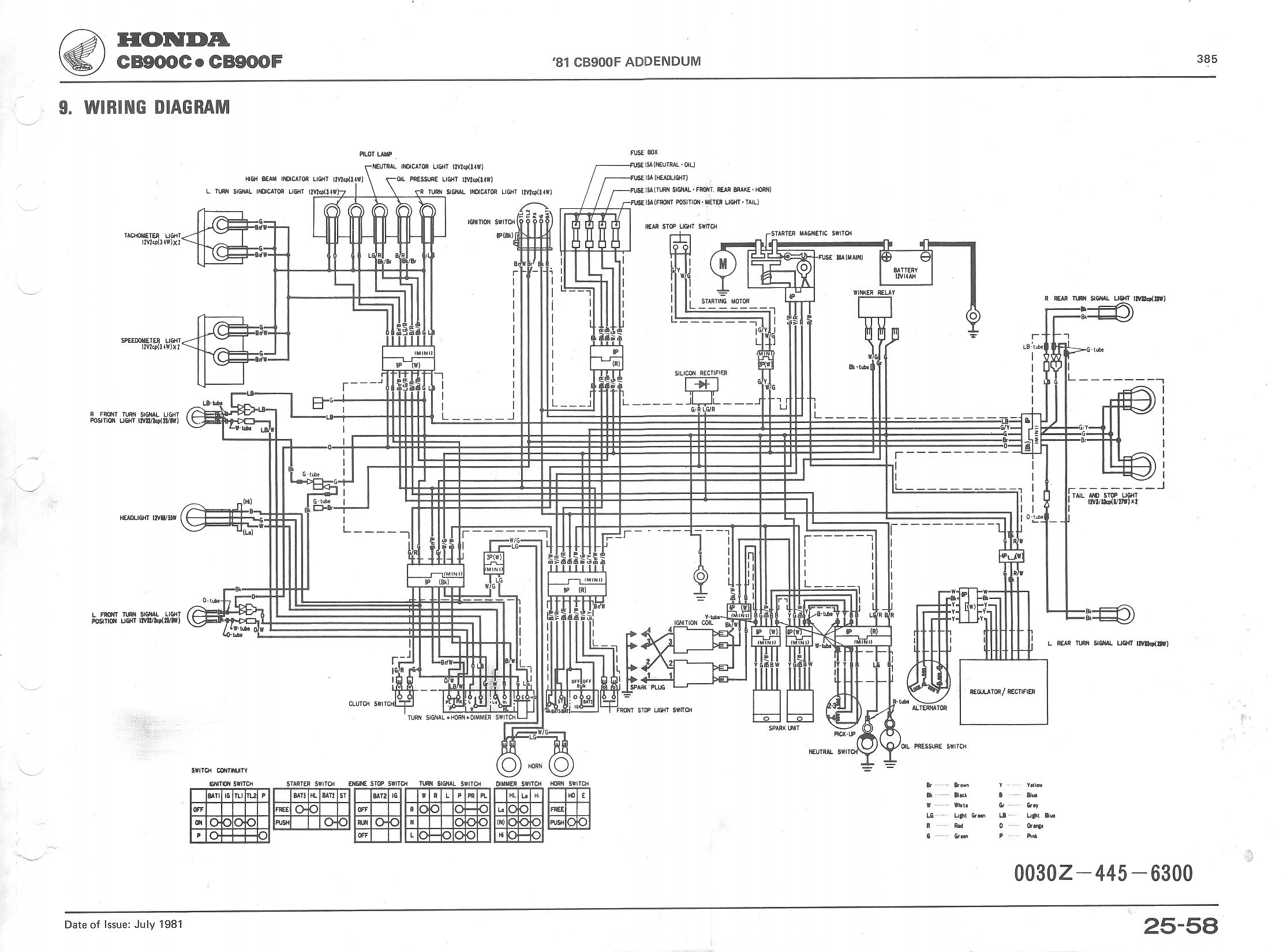 1980 Gl1100 Wiring Diagram Detailed Schematics Goldwing Honda Standard Gl1500