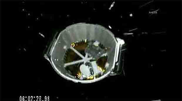 Image of SpaceX Dragon spacecraft after stage two separation at 06.02.26 into the flight