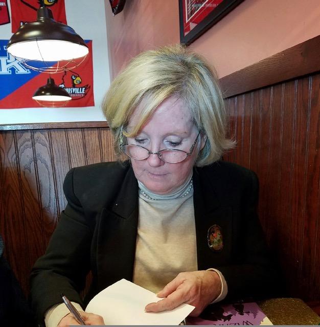 Kath Boyd Marsh signing book