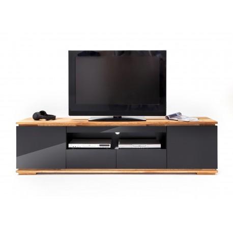 meuble tv noir laque design 2 m cbc meubles