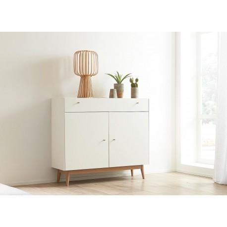 commode rangement chene et blanche style scandinave cbc meubles