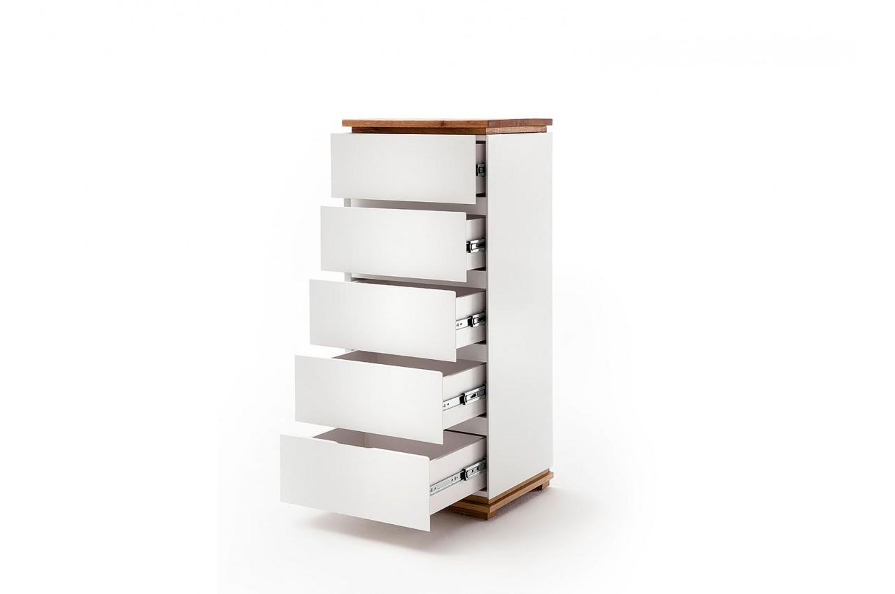 bois massif 5 tiroirs cbc meubles