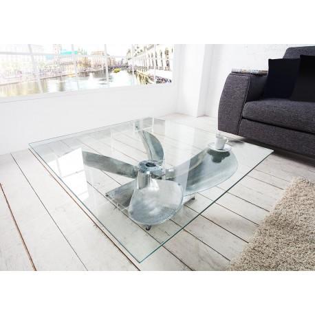 table basse carree verre et argent cbc meubles