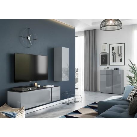 ensemble de meubles pour salon verre gris cbc meubles