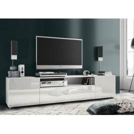 meuble tv design 181 cm 3 portes et 1 niche