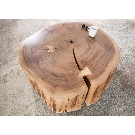 table basse appoint o 60 cm bois massif acacia cbc meubles