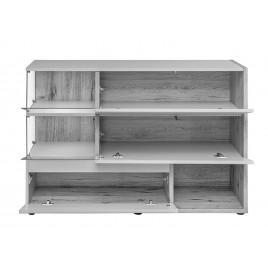 meuble buffet design anthracite et bois