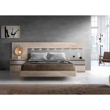 lit adulte double 2 personnes 160x200 cm a spot led cbc meubles