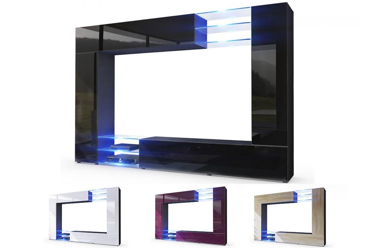 Meuble TV Mural Design Led SAMBA Cbc Meubles