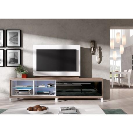 meuble tv panneau tv rotatif aden 2909 cbc meubles
