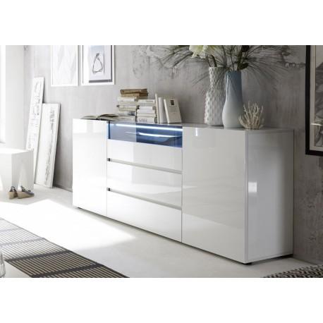 buffet design laque blanc brillant cbc meubles