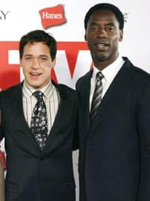 Grey's Anatomy co-stars T.R. Knight, left, and Isaiah Washington pose together after the Emmy Awards in August 2006. Washington has been dropped from the hit medical drama.