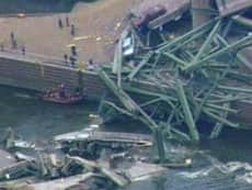 Tonnes of concrete plunged into the Mississippi River during the bridge collapse in Minneapolis on Wednesday.