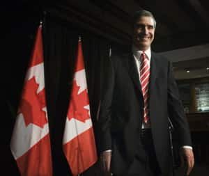 Liberal Leader Michael Ignatieff leaves after speaking to the Canadian Club of Canada and the Empire Club of Canada in Toronto on Friday. (Nathan Denette/Canadian Press)